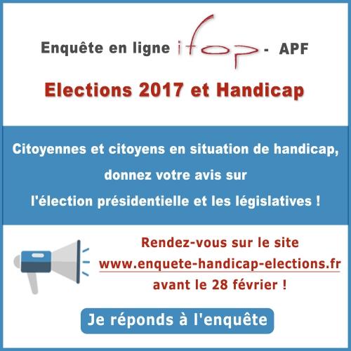 sondage,enquête,opinion,ifop,élection,présidentielle,apf,avis,participation,handicap,bretagne